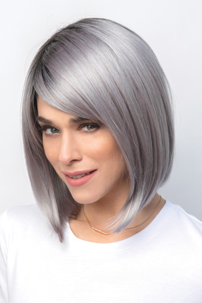 Vada by Amore in Smoky Gray Rooted - Front