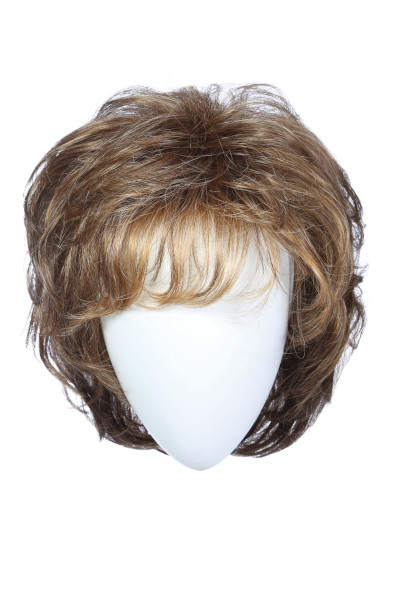Salsa Large Cap by Raquel Welch in Mocha Foil - Front-Model-Front1